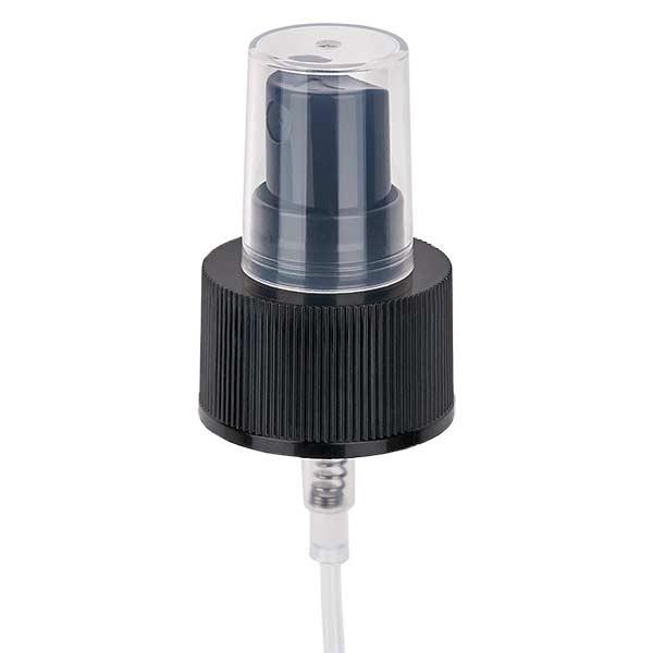 Pumpzerstäuber schwarz GCMI 28/410 inkl. Kappe transparent