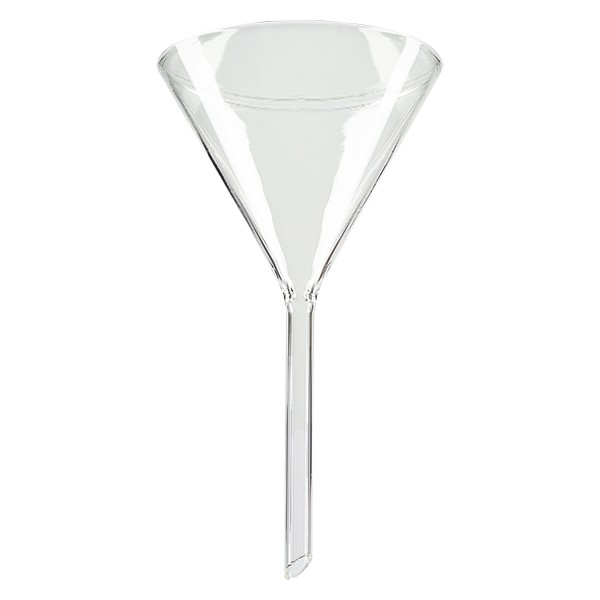 Glastrichter Ø 100mm - Borosilikatglas 3.3 - 60° Winkel