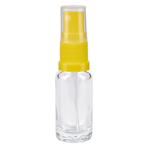 Klarglasflasche 10ml mit Pumpzerstäuber gelb
