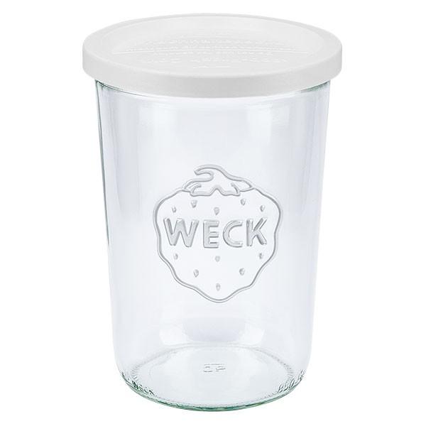 WECK 850ml Sturzglas (3/4 Liter) mit Frischhalte Deckel
