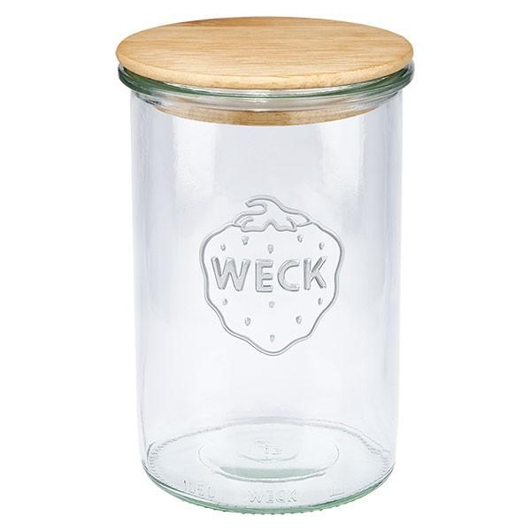 WECK-Sturzglas 1000ml mit Holzdeckel
