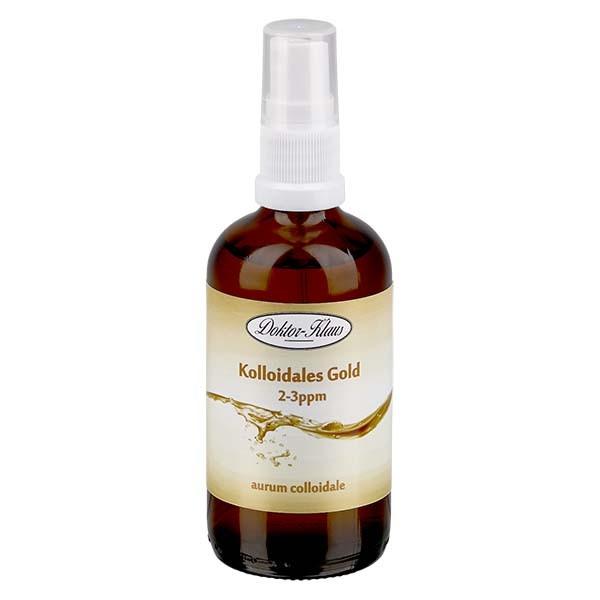 100 ml Kolloidales Gold Doktor-Klaus, 2-3ppm, Blauglasflasche mit Sprayaufsatz