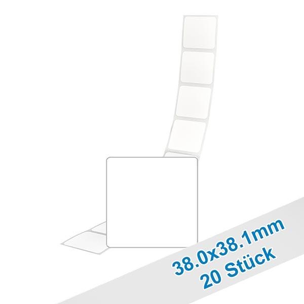 20er Pack Etiketten 38.1x38.0mm zum Beschriften