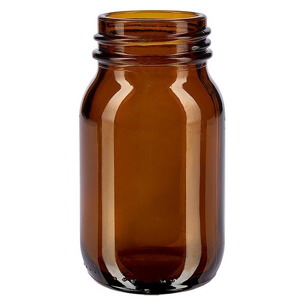 Weithalsflasche 100ml Braunglas mit DIN 40 Mündung ohne Verschluß