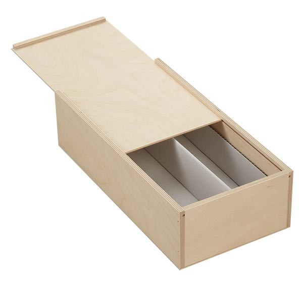 Holzbox mit Schiebedeckel 36x18x10cm (für Flaschen)