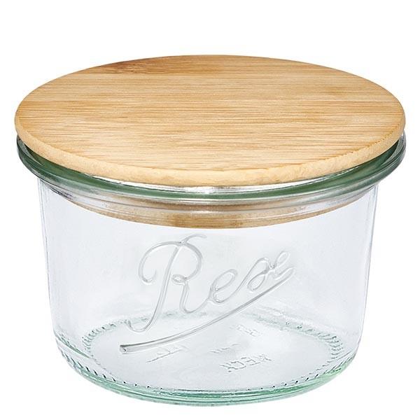 REX-Mini-Sturzglas 80ml mit Holzdeckel