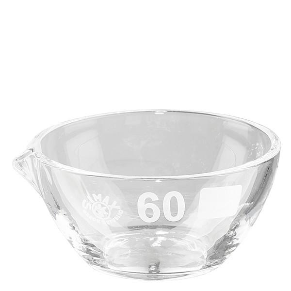Abdampfschale 45ml Borosilikatglas mit Ausguss