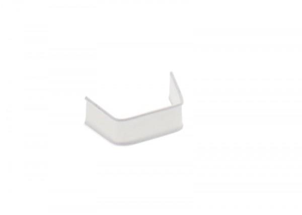 100 x U-Clip aus Papier, Länge 40, weiß