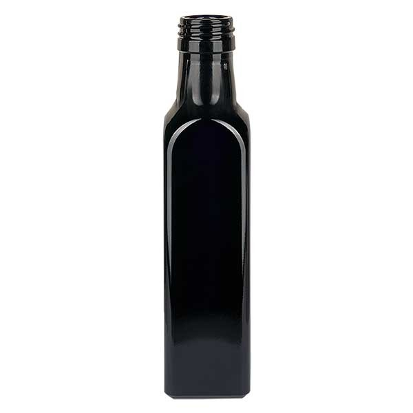 Ölflasche Violettglas 500ml eckig, UNI 31.5x24