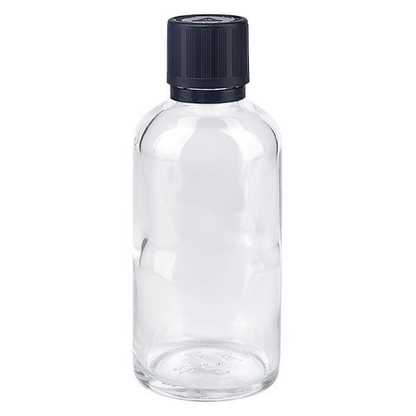 Apotflasche klar 50ml Tropfverschluss Pr. 1mm s. KiSi Bliw OV