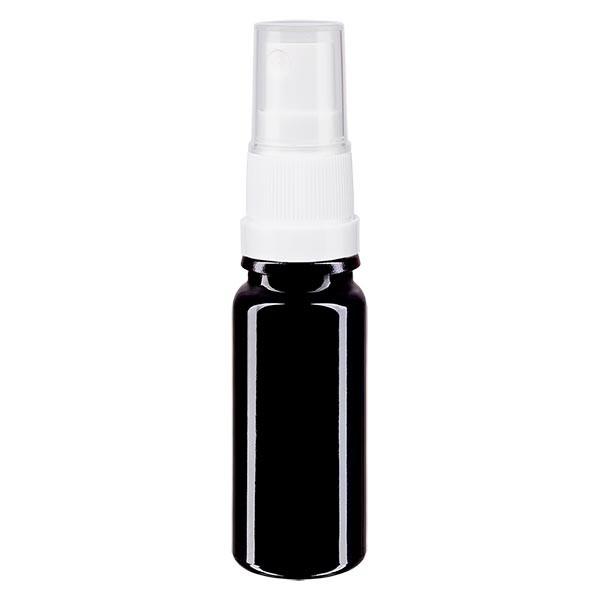Violettglasflasche 10ml mit Pumpzerstäuber weiss