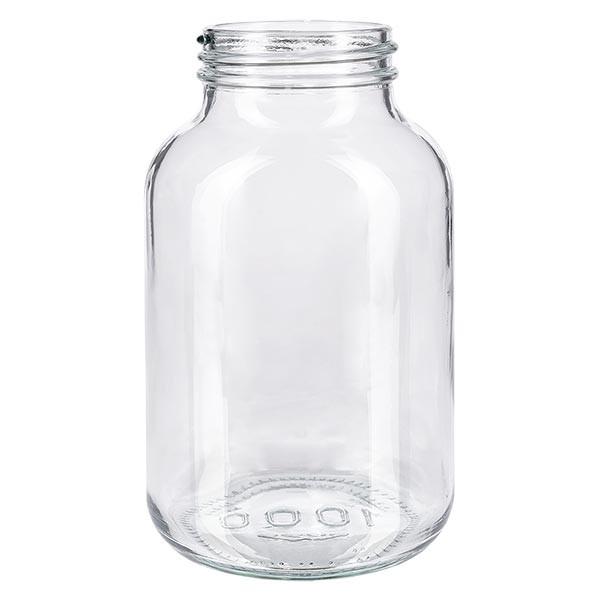 Weithalsflasche 1000ml Klarglas mit DIN 68 Mündung ohne Verschluß