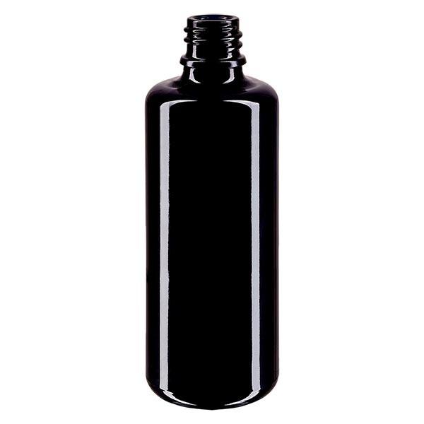 Violettglas Flasche 100ml DIN 18 (Mironglas)