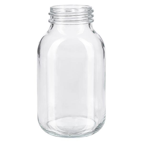 Weithalsflasche 500ml Klarglas mit DIN 55 Mündung ohne Verschluß