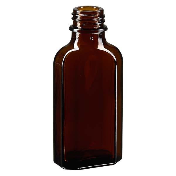 50 ml braune Meplatflasche mit DIN 22 Mündung