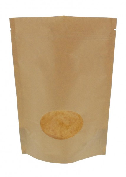 Kraftpapier- Standbodenbeutel Beutel braun (Füllmenge ca. 500g / 190x263mm)