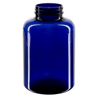 Petpacker 500ml kobaltblau Öffn. 45mm ohne Deckel VPE 1 Stck.