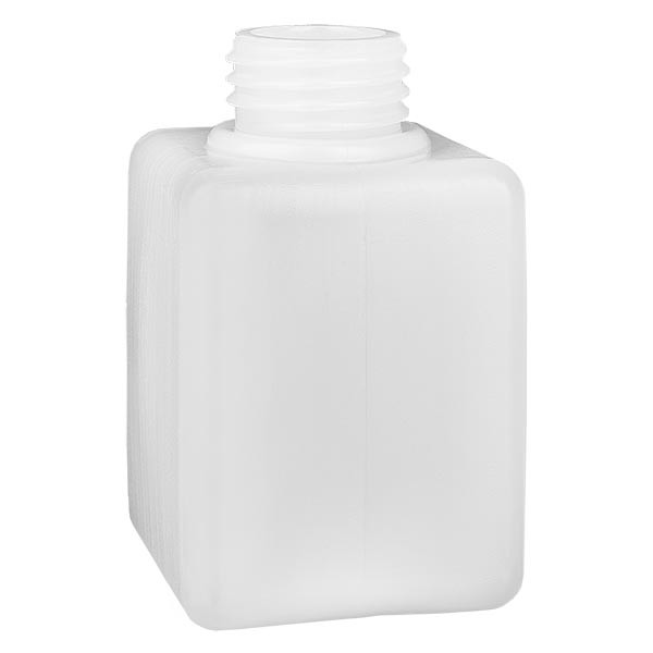 Chemikalienflasche 100ml, Enghals aus PE-HD, naturfarbig, GL 25