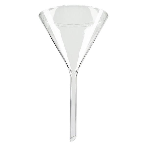 Glastrichter Ø 85mm - Borosilikatglas 3.3 - 60° Winkel