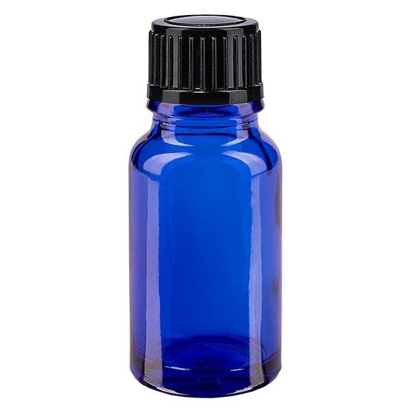 Apothekenfl. blau 10ml Tropfv. 1mm schwarz St