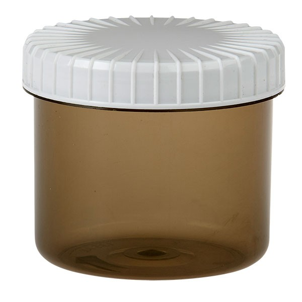 135ml Kunststoffdose Shadow mit gerilltem Deckel