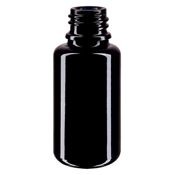 Violettglas Flasche 20ml DIN 18 (Mironglas)