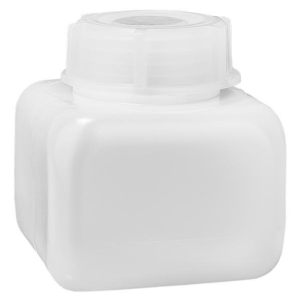 Chemikalienflasche 250ml, Weithals aus PE-HD, naturfarbig, inkl. Schraubverschluss GL 50