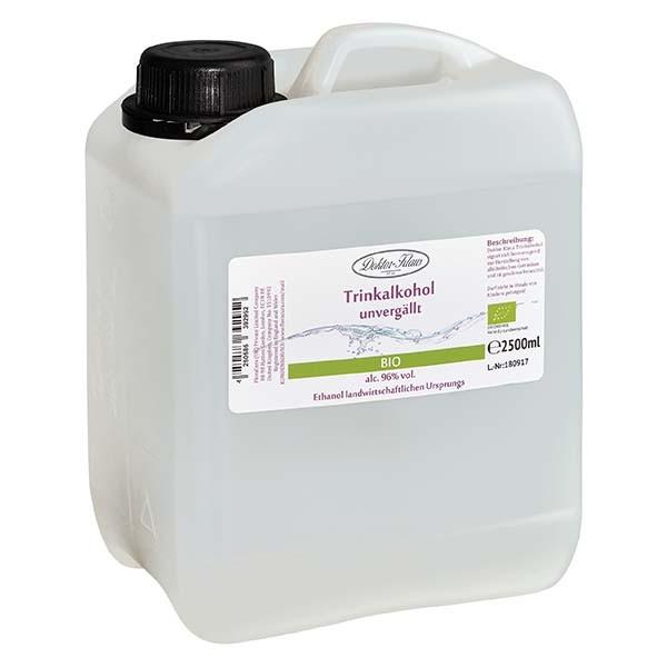 2500ml Bio-Primasprit 96% vol. Alc. in transp. PE-HD Kanister (Weingeist Trinkalkohol)