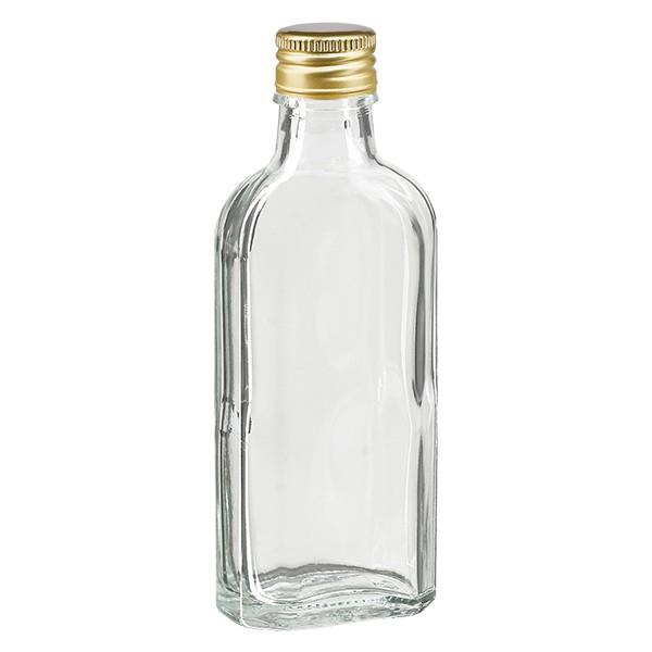 100 ml Meplat klar mit Alu Verschluss gold PP22