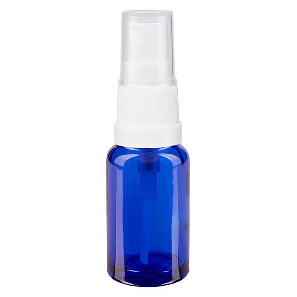 Blauglasflasche 10ml mit Pumpzerstäuber weiss