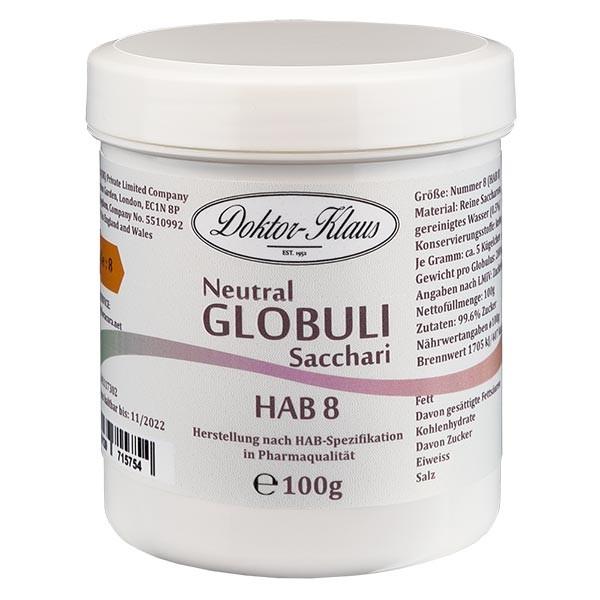 100g Neutral Globuli HAB 8, Doktor-Klaus, 100% reine Saccharose, in Dose mit OV