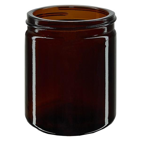 Salbenglas (Glastiegel) 180 ml braun, ohne Deckel