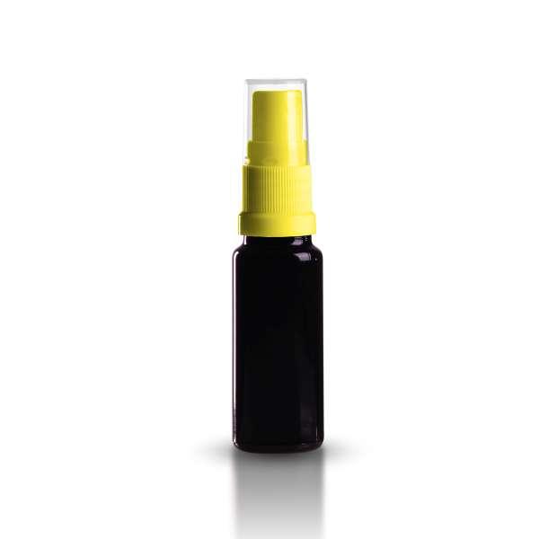 violettglas flasche 10ml inkl pumpzerst uber gelb. Black Bedroom Furniture Sets. Home Design Ideas