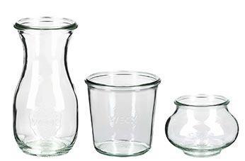 WECK Gläser Und Flaschen (nur Unterteile Ohne Deckel)