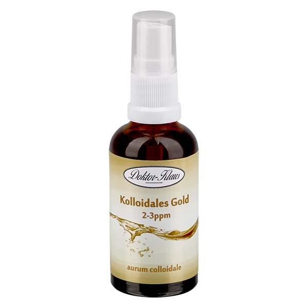 50 ml Kolloidales Gold Doktor-Klaus, 2-3ppm, Blauglasflasche mit Sprayaufsatz