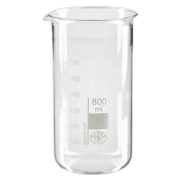 Messbecher aus Glas / Becherglas 800ml hohe Form