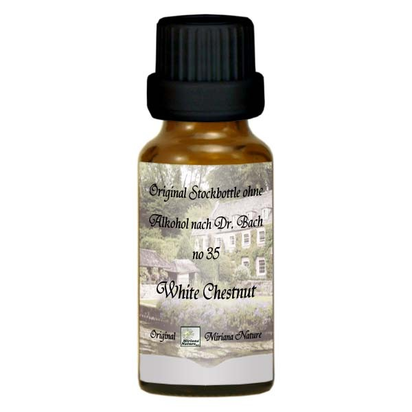 35 White Chestnut, 20ml Essenz (Ohne Alkohol), MirianaNature