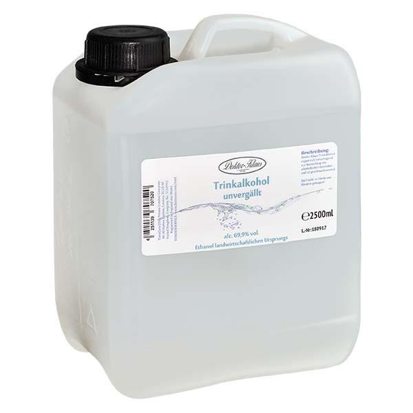 2500ml Primasprit 69,9% vol. Alc. in in brauner PET Flasche mit OV blau