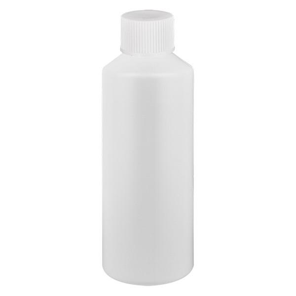 PET Zylinderflasche 100ml weiss, S20x3 mit weissem SV