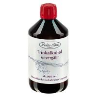 500ml Primasprit 96% vol. Alc. in brauner PET Flasche mit OV (Weingeist Trinkalkohol)