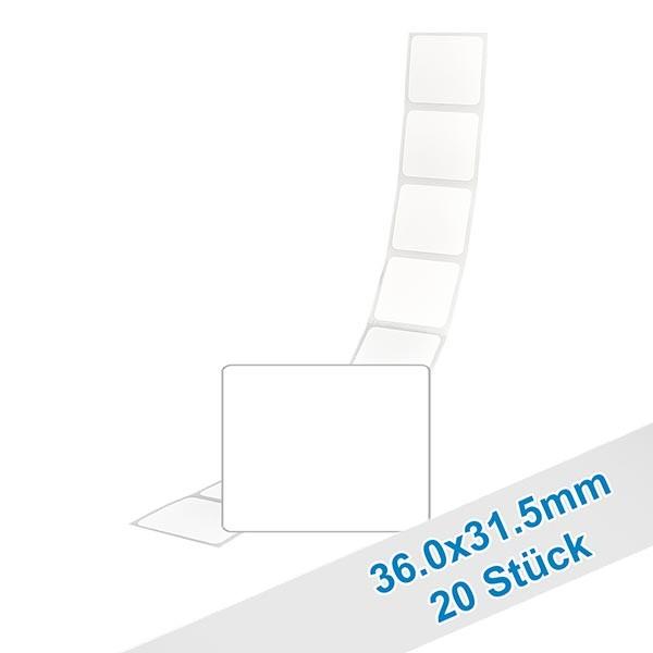 20er Pack Etiketten 31.5x36.0mm zum Beschriften