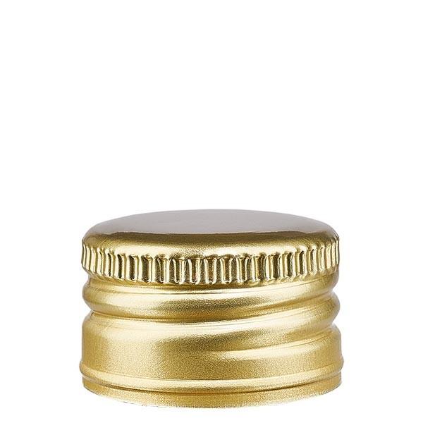 Aluminiumverschluss gold ohne Rollrand