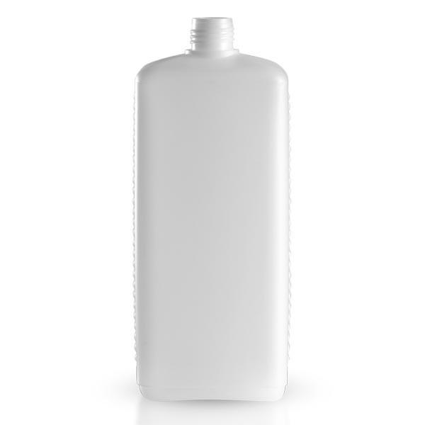 Kunststoffflasche - eckig - weiss - 1000 ml