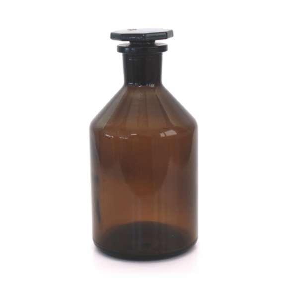 500ml Steilbrustflasche mit Glasstopfen Braunglas