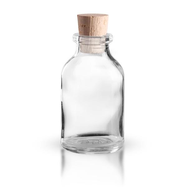 injektionsflasche klarglas 20ml mit korken 11 14mm flaschen 5 100ml mit ffnung 12mm inkl. Black Bedroom Furniture Sets. Home Design Ideas