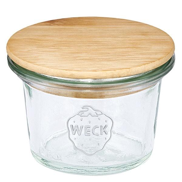 WECK-Mini-Sturzglas 35ml mit Holzdeckel