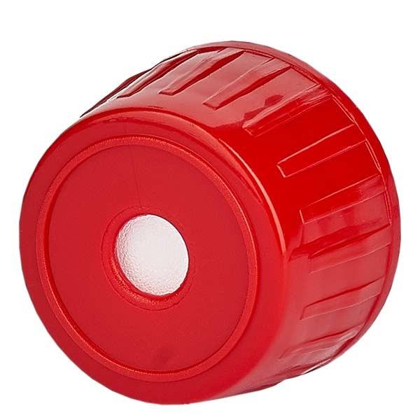 Entgasungsverschluss 28mm rot