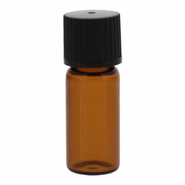 Gewindeflaschen braun 1,5 - 2 ml, 11,6 x 32mm inkl. Verschluss 136 schwarz mit Innenkonus