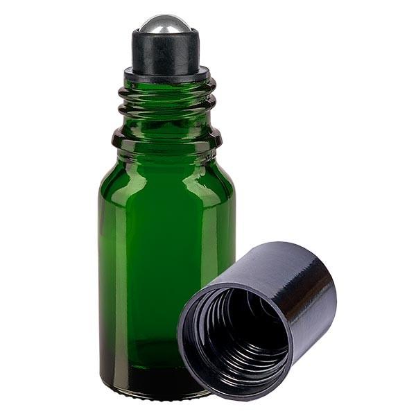 Glas Deostick Flasche grün 10ml, leerer Deo Roller (Roll On)
