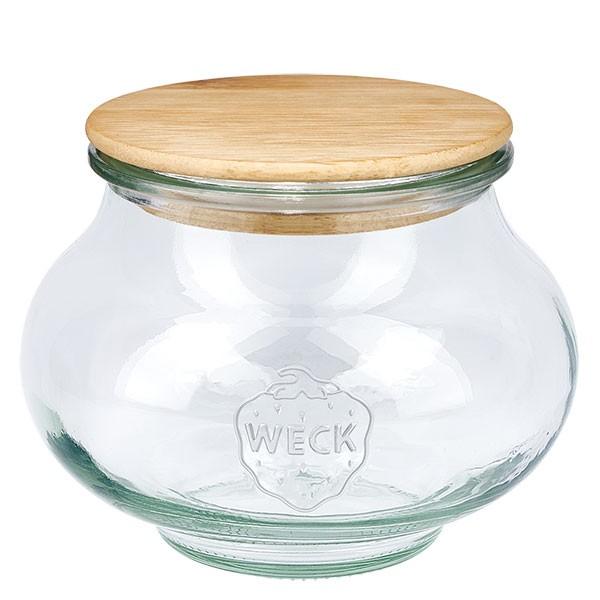 WECK-Schmuckglas 560ml mit Holzdeckel